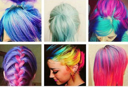 Цветные спреи для волос